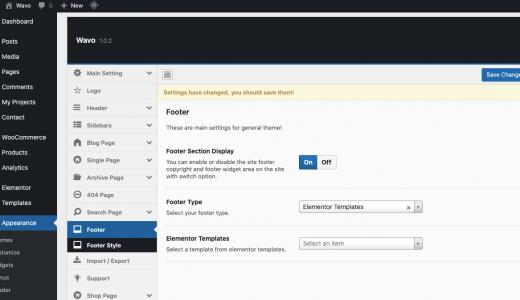 redux theme options panel